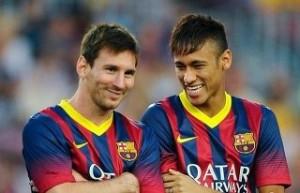 FCバルセロナのメッシとネイマール